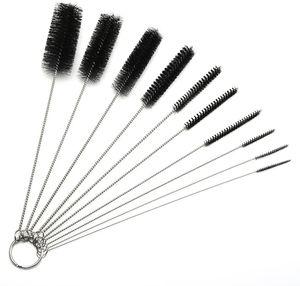 10шт много Кальян курительная трубка Щетка соломинкой Щетка для очистки чистого стекла Бонг Brush