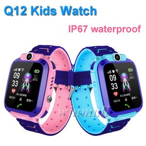 DHL 50pcs Q12 Bambini Smart Watch Tracker 1,44 pollici Touch Screen Bambini Studente Telefono Orologio Chat vocale impermeabile con telecamera SOS