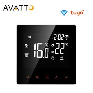 Google Ana için Elektrikli zemin ısıtma, Su / Gaz Kazanı Ses Work AVATTO Tuya WiFi Akıllı Termostat Sıcaklık Kontrolörü