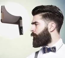 حار المزدوج الجانب اللحية تشكيل قالب التصميم اللحية مشط الرجال أدوات الحلاقة abs مشط للشعر اللحية تقليم قالب أمشاط