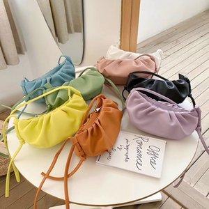 Кожа Mabula Мода Пельмени Клатчи Сумка высокого качества Облако сумка для женщин Малого мягких Elegant мешков плеча Посланника
