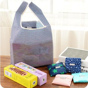 Fashion Printing Foldable Shopping Bag Tote Folding pouch handbags Convenient Large-Capacity Storage Bags 6 Color Free Shipping