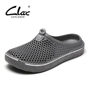 Clax Garden Clog Shoes For Men Quick Drying Summer Beach Slipper Flat Breathable Outdoor Sandals Male Gardening shoe Y200702