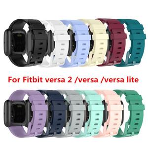 banda de correa de silicona para Fitbit Versa 2 Ver accesorios de reemplazo pulsera de la pulsera para las bandas de Fitbit Versa Lite correa de reloj