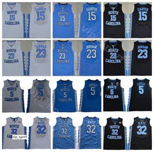 North Carolina Tar Heels Colégio Vince Carter Jersey 15 Michael 23 Luke Maye 32 Nassir Little Basketball Jersey 5 Black Blue Branco