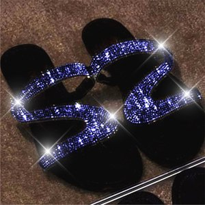 Women Summer Flat Bling Slippers Transparent Soft Jelly Shoes Female Flip Flops Sandals Outdoor Beach Ladies Slides Drop Ship t04