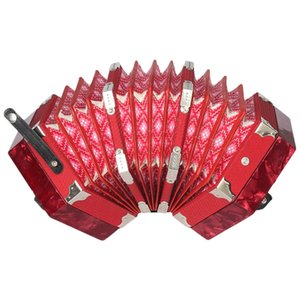 HOT-Concertina Accordion 20-Button 40-Reed Anglo Style с сумкой для переноски и регулируемым ремешком для рук