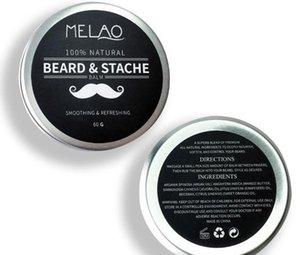 2019 Mabox Natural Beard بلسم بلسم للشعر للسادة 60 جرام شمع عضوي طبيعي من الشارب لشعيرات شعيرات العناية اللحية