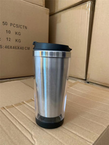 450ml Storyboard Tumblers 450ml Coffee Mug Stainless Steel Liner Outside Plastic Insulated Travel Mug Photo Paper Insertable A03