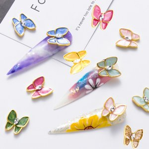Zircon Butterfly Nail Jewelry Rhinestones For Manicure Accessories Charm DIY Gel Polish Design 3D Decoration Nail Art