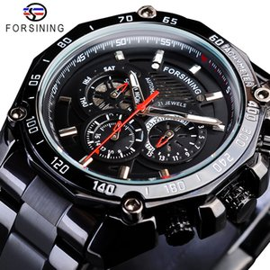 Forsining True Man Stainless Steel Military Sport Mens Automatic Wrist Watches Top Brand Luxury Mechanical Male Clock Relogio