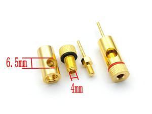 10pcs Kupfer Lautsprecherkabel Pin für 4mm Bananenstecker Spaten Bnanana an Pin Adapter