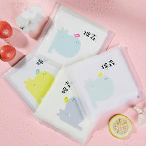 10шт макияж для удаления очистки хлопка - натуральный 100% мягкий хлопок - прокладки герметичные пакеты, путешествия одноразовое очищение полотенце для чувствительной кожи