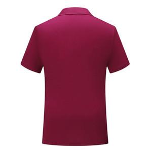 Şarap kısa kollu tişört SD-cf-25 Yeni erkek ve kadınlar İngiliz rüzgar düz pamuk spandex pamuk polo gömlek kırmızı