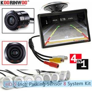 Koorinwoo Visible Car Video Parking Sensor 8 레이더 Metal Bumper Black / White Step-up Alert Auto Screen 보안 시스템 Universal