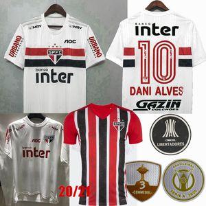 20 21 Sao Paulo FC Fußball-Trikot Sao Paulo PABLO PATO Dani Alves 2020 2021 Fußballtraining Männer und Frauen Kinder T-Shirt 3XL