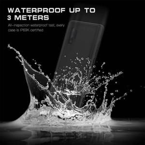 Redpepper Funda impermeable a prueba de golpes Suciedad-resistente surf natación cubierta del caso para Samsung S8 S9 S10 Plus Nota 10 Pro con Box