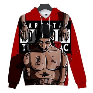 Explosion Models Amazon US Rapper 2PAC Remembrance Clothes Adult 3D Color Printing High Quality Hooded Sweater Size 2XS-4XL