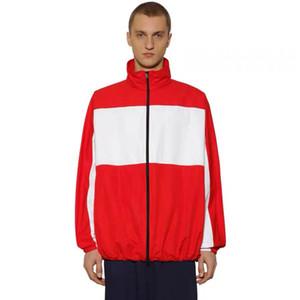 19FW BB LOGO Druck Mantel Panelled Stitching Windjacke Mann Frauen Paar Jacken Mode HFLSJK350