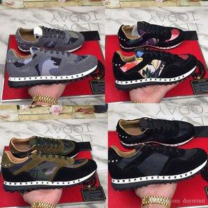 2020 pattini del progettista Uomini Stud Rivet Camouflage Sneakers Runner istruttori sportivi pattini casuali Size euro unsex