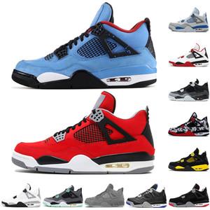 Лучшее качество 4 4s Мужские ботинки баскетбола Огонь Красный Cactus Jack Game Royal Motor стилиста кроссовки Спортивная обувь Размер 40-47