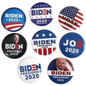 8 Styles Joe Biden 2020 Broche élection présidentielle américaine Biden Badge Tinplate Élection Parti Badge Faveur