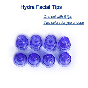 Hydra Dermabrasion Tips with two colour hydra peeling head dermabrasion أجزاء الجهاز 8 نصائح كيس واحد