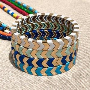 Shinus Arrow Bracelet Men Enamel Tile Beads Bracelets For Women Boho Pulseras Mujer 2020 Femme Bangles Jewelry Armband Handmade