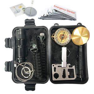 Survival Kit Набор Открытый Отдых Путешествия Многофункциональный Первая помощь SOS EDC Emergency Supplies Tactical для Wilderness Аксессуары