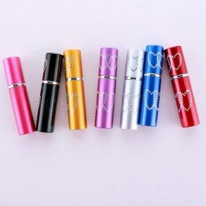 10ml recarregável portátil Mini Duplo coração amor perfume garrafa de alumínio de viajantes do spray recipientes vazios amostra atomizador ZZA1633
