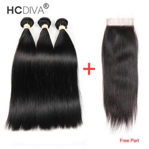 8A del Virgin del brasiliano dei capelli con frontale dei capelli umani Weave 3 pacchi con frontale del corpo del Virgin brasiliano capelli dell'onda con pizzo frontale chiusura
