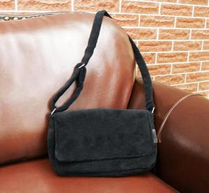 Etiket VIP Hediyesi ile Bodycross çanta kadife malzeme Moda siyah çanta lüks C sembolü pazen omuz çantası