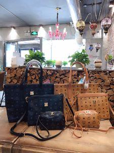 Bayanlar çanta, Moda Deri ÇantaMCMOmuz çantası, alışveriş çantası, postacı çanta, cüzdan, hediye kutusu, 923351 ambalaj