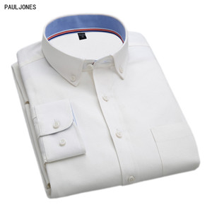 PAULJONES 2017 Spring Latest Long Sleeve Oxford Casual Business Mens Shirts High Quality Stylish China Imported Male Clothing