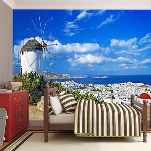 Maravilhoso paisagem natural papel de parede de puro céu azul nuvens cidade extensão espaço decoração parede sala de estar quarto sala de estar