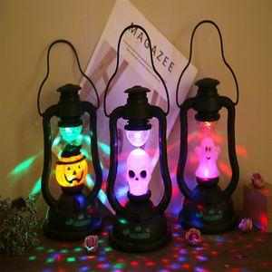 Lampe Halloween main citrouille fantôme Lampe d'éclairage clignotant Horrible Party Music Décor Lantern