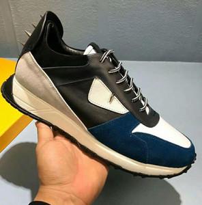 Мужская повседневная обувь с рисунком глаза Desginer из натуральной кожи Хорошее качество портативного модного бренда обуви для мужчин Обувь с коробкой 38-45
