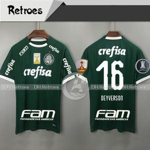 19 20 Palmeiras Soccer Jersey Home green 2019 Palmeiras # 7 DUDU # 10 MOISES # 30FELIPE MELO Camiseta de Futbol Visitante del Palmeiras TAMAÑO S-XXL