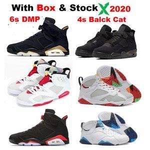 6 HARE 4s Bred 2020 New 6 UNC Flint 7s Hare 7 Miro баскетбольная обувь Мужская с коробкой мужские кроссовки Tinker
