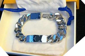 De haute qualité en acier inoxydable glacé femmes bracelets bijoux Gravé Bracelet Homme