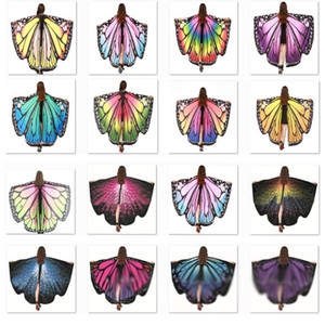 Cadılar Bayramı Kostümleri Kelebek kanatları Şal Kadınlar Peri Dekoratif Aksesuarları Wrap Baskı Şal Eşarplar Eşarplar Parti XD22157 Malzemeleri