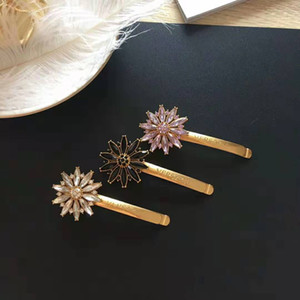 New Arrival luxury designer Women Hair Clips For classic Girl Rhinestone Hair Clamps Women Hair Accessories Jewelry free shipp