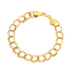 Männer Kette Armbänder Gold Farbe und Kupfer Armreifen für Frauen, Kuba GP Chain Link Armband arabischen Schmuck Geschenke nie verblasst