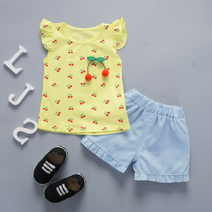 BibiCola baby girl clothing sets summer clothes sets newborn baby clothes t-shirt vest+shorts 2pcs tracksuit set clothing