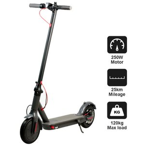 Germany Warehouse 8.5 inch Aluminum alloy air tyre electric scooter 36V 250W power 6.6Ah Batter adult Smart Scooter