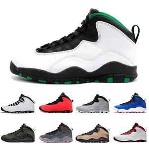 10 10s Seattle Jumpman Shoes Mens Basketball Westbrook turma de 2006 Tinker Aço Cinzento Branco Trainers Sneaker