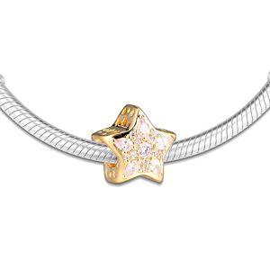CKK Celestial Star Charms 925 Original Fit Pandora Bracelet Sterling Silver Charm Beads for Jewelry Making kralen Berloque
