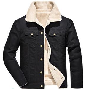 Men's Down & Parkas 2021 Winter Cotton Jacket Jackets Plus Velvet Thick Coat Youth Large Size Shirt Outerwear