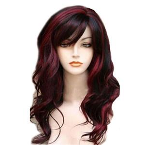 Синтетические парики косплей парик Синтетические парик парики Длинные волны Ombre Браун Волнистые парик Блондинка парики Для черный / белый Женщина Glueless волос