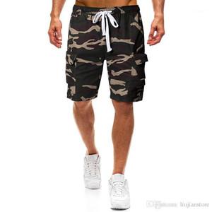 Designer suelta cortocircuitos de la manera Deportes cortos pantalones ocasionales de los pantalones del cargo para hombre con paneles de verano relajado para hombre del camuflaje